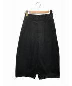 JUNYA WATANABE CDG(ジュンヤワタナベコムデギャルソン)の古着「タックワイドパンツ」|ブラック