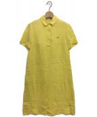 LACOSTE(ラコステ)の古着「フードポロワンピース」 イエロー