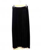 WRAPINKNOT(ラッピンノット)の古着「サイドラインTプリーツスカート」|ブラック