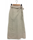 ()の古着「リネンラップスカート」|ナチュラル