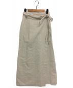 MICA&DEAL(マイカ&ディール)の古着「リネンラップスカート」 ナチュラル