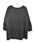 GRACE CONTINENTAL(グレースコンチネンタル)の古着「刺繍クルーネックスウェット」|ブラック