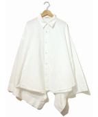 LIMI feu(リミフゥ)の古着「デザインワイドスリーブシャツ」|ホワイト