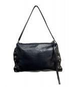 sergio rossi(セルジオロッシ)の古着「レザーショルダーバッグ」|ブラック
