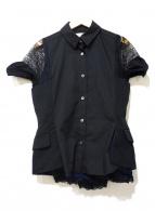 sacai(サカイ)の古着「レイヤードシャツジャケット」|ブラック