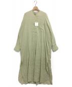 TODAYFUL(トゥデイフル)の古着「ストライプシャツドレス」|ベージュ