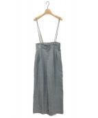 NOBLE(ノーブル)の古着「ブッチャーショルダーストラップパンツ」|ブルー