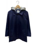FACTOTUM(ファクトタム)の古着「ステンカラーコート」|ネイビー