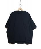My Beautiful Landlet(マイ ビューティフル ランドレット)の古着「高密オックスフォードクルーネックプルオーバーワイドシャツ」|ネイビー