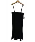 Spick and Span Noble(スピック&スパンノーブル)の古着「ショルダーストラップサロペットマーメイドスカート」|ブラック
