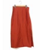 AURALEE(オーラリー)の古着「シルクロングスカート」|レッド