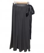 INSCRIRE(アンスクリア)の古着「エアーロングスカート」|グレー