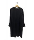Unaca(アナカ)の古着「ベルカフスワンピース」|ブラック