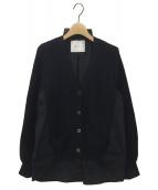 sacai(サカイ)の古着「シャツドッキングカーディガン」|ブラック