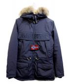 NAPAPIJRI(ナパピリ)の古着「中綿ミリタリージャケット」|ネイビー