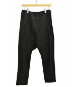 YOHJI YAMAMOTO(ヨウジヤマモト)の古着「サルエルパンツ」|ブラック