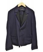 Y's(ワイズ)の古着「レイヤードデザインジャケット」|ネイビー