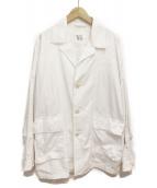 Y's(ワイズ)の古着「リペア加工オーバーサイズカバーオール」|ホワイト