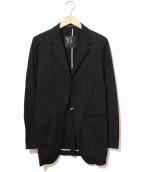 Y's YOHJI YAMAMOTO(ワイズ ヨウジヤマモト)の古着「フックボタンテーラードジャケット」|ブラック