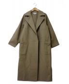 HYKE(ハイク)の古着「スタンドカラーコート」|ベージュ