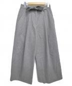 MAISON FLANEUR(メゾン フラネウール)の古着「ベルテッドワイドパンツ」 グレー