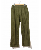 YAECA(ヤエカ)の古着「ベイカーパンツ/BAKER PANTS」|オリーブ