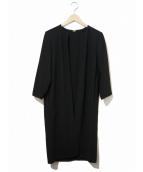 MUSE de Deuxieme Classe(ミューズデドゥーズィエム クラス)の古着「トリアセジョーゼットコート」|ブラック