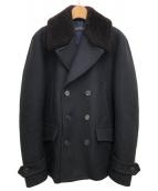GUCCI(グッチ)の古着「メルトンPコート」|ブラック