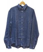 Frank&Eileen(フランクアンドアイリーン)の古着「リネンシャツ」|ネイビー
