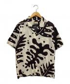 pataloha(パタロハ)の古着「アロハシャツ」|ベージュ×ブラウン