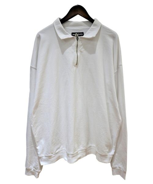 MONITARY(モニタリー)MONITARY (モニタリー) Cropped Half Zip Sweat ホワイト サイズ:XLの古着・服飾アイテム