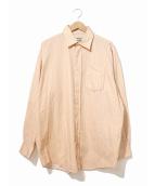 ACNE STUDIOS(アクネステュディオズ)の古着「ストライプシャツ」|サーモンピンク×パープル