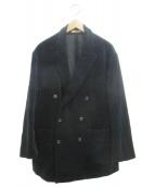 is-ness(イズネス)の古着「コーデュロイダブルテーラードジャケット」|ブラック