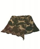 KAPITAL(キャピタル)の古着「19AW 縮絨ウールインディアンペインティングマフラー」|グリーン×ブラウン