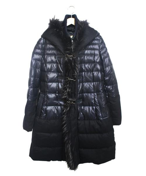 GALLOTTI(ギャロッティ)GALLOTTI (ギャロッティ) ファー付ダウンコート ネイビー サイズ:42の古着・服飾アイテム