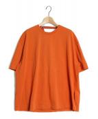 ()の古着「ドレープバックカットソー」 オレンジ