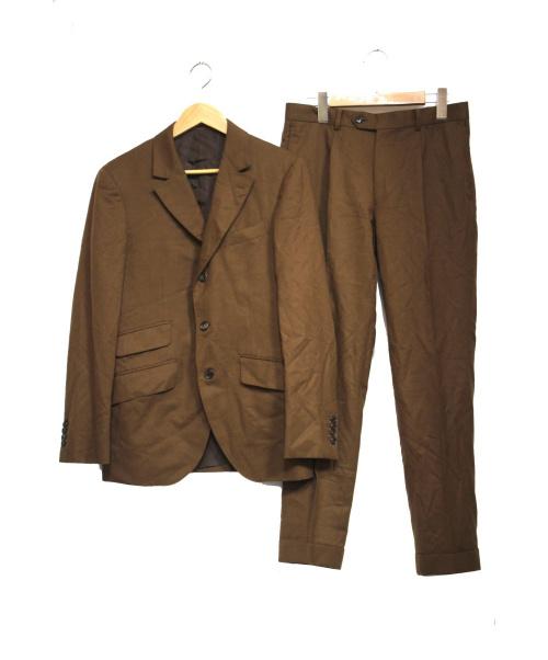EDIFICE(エディフィス)EDIFICE (エディフィス) LE LYS / ルリス FOX BROTHERSサキソニー ブラウン サイズ:46の古着・服飾アイテム