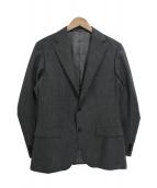 EDIFICE(エディフィス)の古着「Belesto suヘリンボーンセットアップスーツ」 グレー