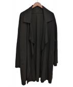 syte(サイト)の古着「Gabardine Double Collar Coat」 ブラック