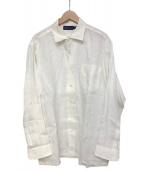 RALPH LAUREN PurpleLabel(ラルフローレンパープルラベル)の古着「総リネンドレスシャツ」 ホワイト