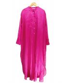 Plage(プラージュ)の古着「オーガンジーロングシャツ」 ピンク