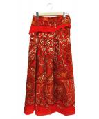 Plage(プラージュ)の古着「スカーフプリントスカート」 レッド