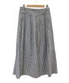 agnes b(アニエスベー)の古着「ヴィシーチェックロングスカート」|ブラック
