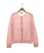 COMME des GARCONS COMME des GARCONS(コムデギャルソンコムデギャルソン)の古着「クルーネックカーディガン」|ピンク