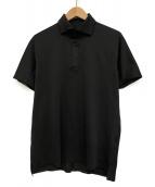 DESCENTE(デサント)の古着「オルテラインスーパーソニックシームレスポロシャツ」|ブラック