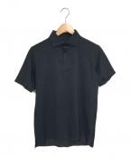 DESCENTE(デサント)の古着「オルテラインスーパーソニックシームレスポロシャツ」 ブラック