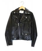 The Virgnia(ザヴァージニア)の古着「レザーライダースジャケット」|ブラック