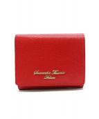 Samantha Thavasa(サマンサタバサ)の古着「シンプルラメ3つ折り財布」|レッド