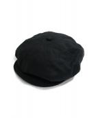 SOLARIS HATMAKERS(ソラリスハットメーカーズ)の古着「リネンキャスケット」|ブラック