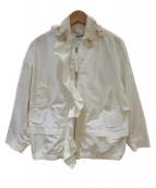 MUVEIL(ミュベール)の古着「ビニールフラワーブルゾン」|ホワイト